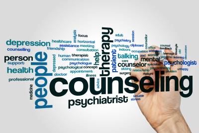 counseling word cloud concept